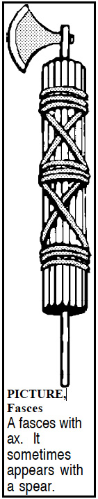 illustration of the Fasces symbol from ancient Roman times