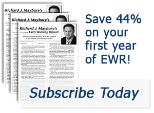 picture of covers of group of EWR newsletters