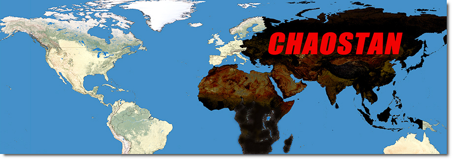 Global map of lands of Chaos or Chaostan